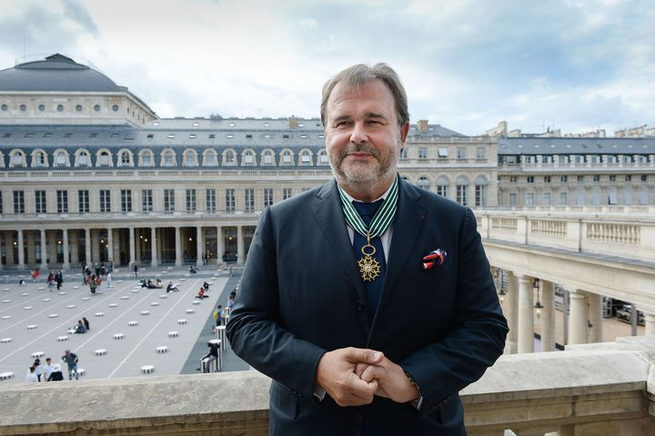 Le pâtissier Pierre Hermé est intronisé commandeurde l'ordre des Arts et des Lettres, au ministère de la Culture, à Paris, le 23 septembre 2019. (ISA HARSIN / SIPA)