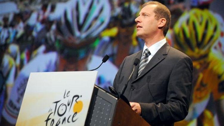Christian Prudhomme lors de la présentation Tour de France 2010