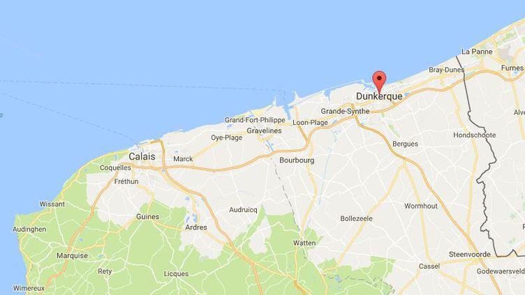 L'adolescent se baignait dans la mer, à Dunkerque (CAPTURE D'ECRAN GOOGLE MAPS)