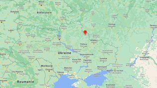 Quatre soldats ont été tués et deux blessés lors d'un bombardement à Choumi, dans l'est de l'Ukraine, le 26 mars 2021. (GOOGLE MAPS)