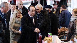 Le président François Hollande à Tulle (Corrèze), le 17 janvier 2015. (NICOLAS TUCAT / AFP)