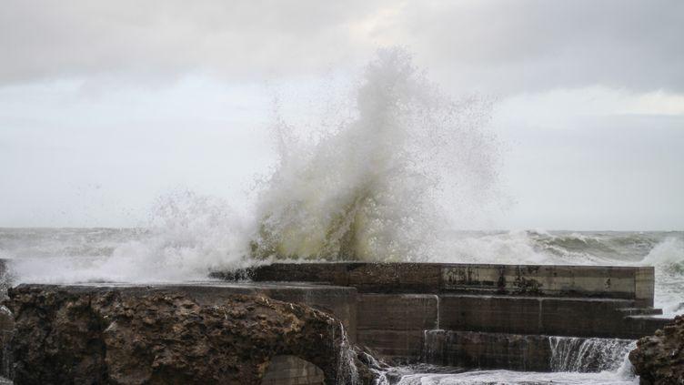 La tempête Justine, le 30 janvier à Biarritz (Pyrénées-Atlantiques) (BASTIEN MARIE / HANS LUCAS)