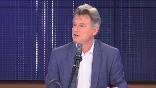 Fabien Roussel, député du Nord, secrétaire national du PCF et candidat à l'élection présidentielle, invité de franceinfo le 13 mai 2021. (FRANCEINFO / RADIO FRANCE)