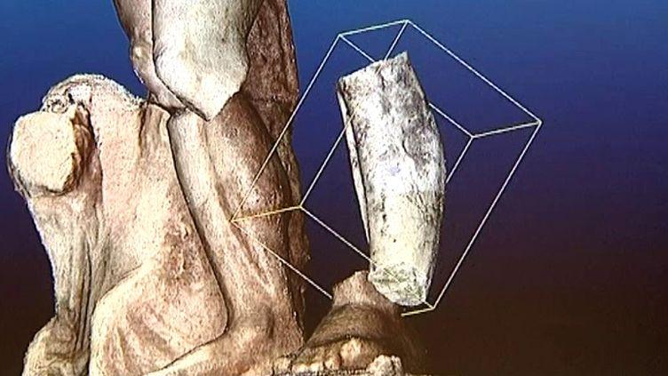 Reconstitution en 3D de la statue de Neptune  (France 3 / Culturebox /capture d'écran)