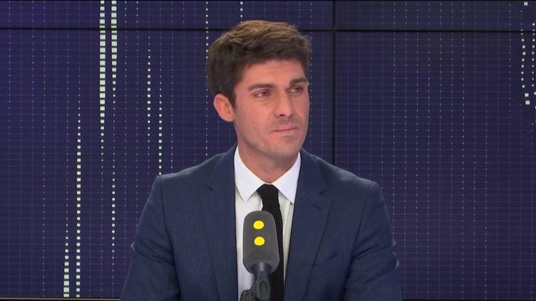 Aurélien Pradié, député LR du Lot, le 23 octobre 2018 sur franceinfo. (FRANCEINFO / RADIOFRANCE)