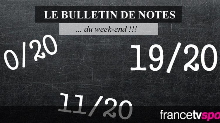 Le bulletin de notes du week-end