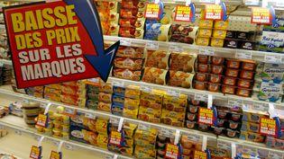 Les prix à la consommation sont en baisse pour la première fois depuis 2009 en France, indique l'Insee, jeudi 19 février 2015. (MYCHELE DANIAU / AFP)