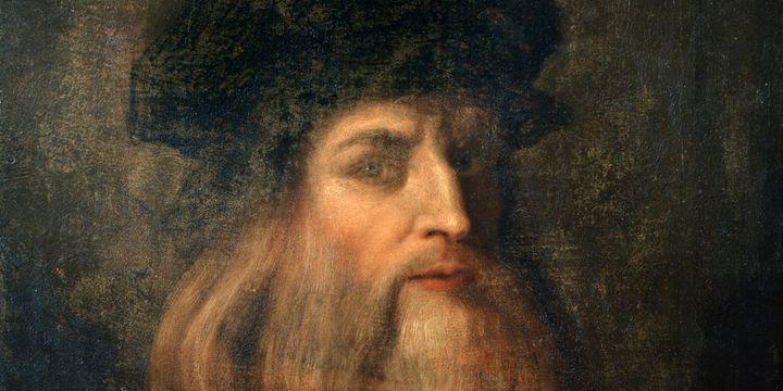 Léonard de Vinci : autoportrait présumé(détail)  (Leemage)