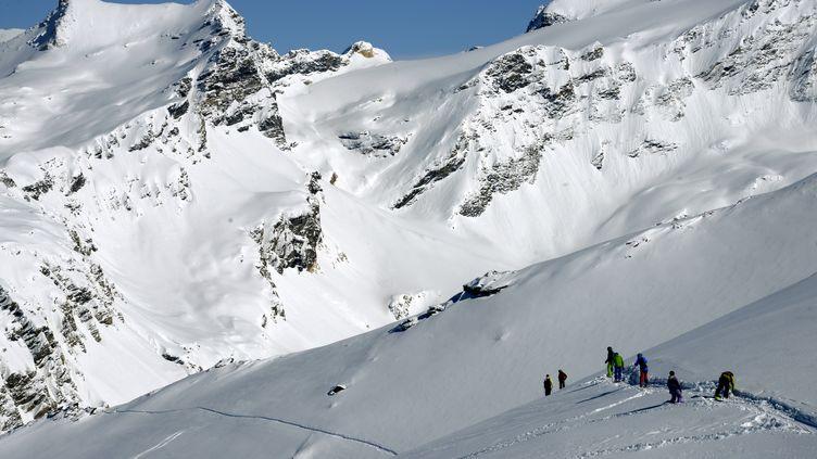 La station de ski de Val-d'Isère en Savoie,2 mars 2014. (PHILIPPE DESMAZES / AFP)
