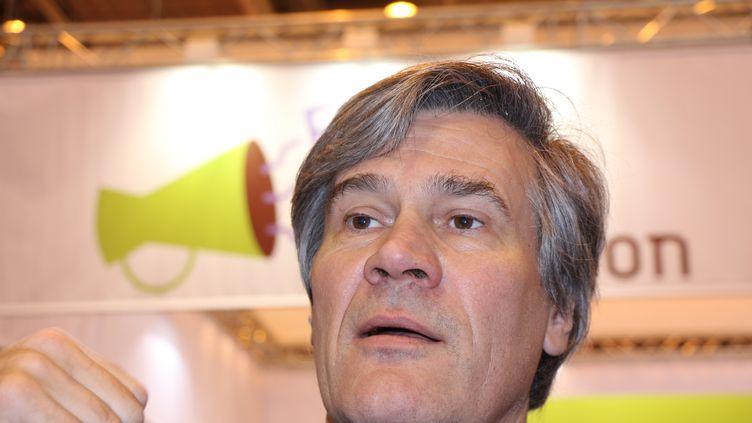 Le ministre de l'Agriculture Stéphane Le Foll pendant le 51e Salon de l'agriculture à Paris, samedi 22 février. (CITIZENSIDE / VERONIQUE PHITOUSSI / AFP)