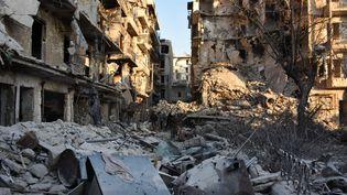 A Alep, le 28 novembre 2016. (GEORGE OURFALIAN / AFP)