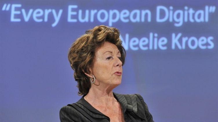 La commissaire européenne chargée de la stratégie numérique, Neelie Kroes - 19/05/10 (AFP Georges Gobet)