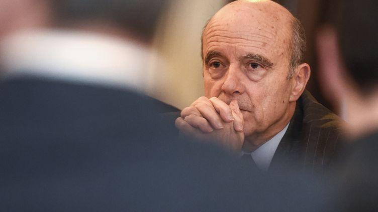 Alain Juppé, le 13 février 2017 à Bordeaux (Gironde). (NICOLAS TUCAT / AFP)