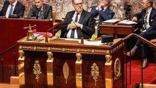Le président de l'Assemblée nationale, Richard Ferrand, le 24 septembre 2019 à Paris. (JACQUES DEMARTHON / AFP)