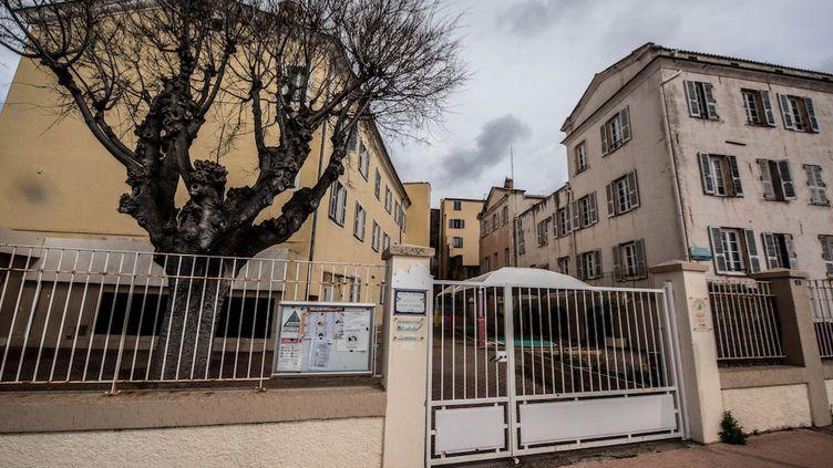 Des écoles fermées àAjaccio, le 9 mars 2020. (ANGELE RICCIARDI / AFP)