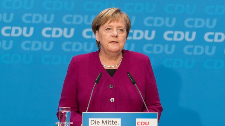 Angela Merkel ne se représentera pas à la tête de la CDU en décembre 2018. (MARKUS HEINE / AFP)