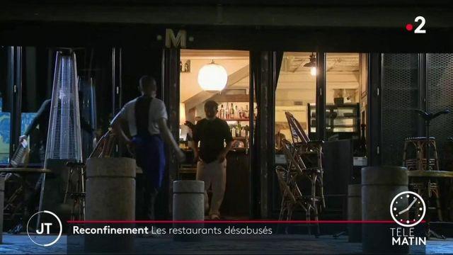 Reconfinement : le désarroi des restaurateurs