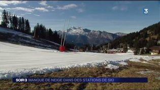 La neige manque dans certaines stations de ski. (FRANCE 3)