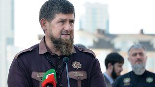 Le président tchétchène, Ramzan Kadyrov, à Grozny (Tchétchénie), le 3 août 2017. (SAID TSARNAEV / AFP)