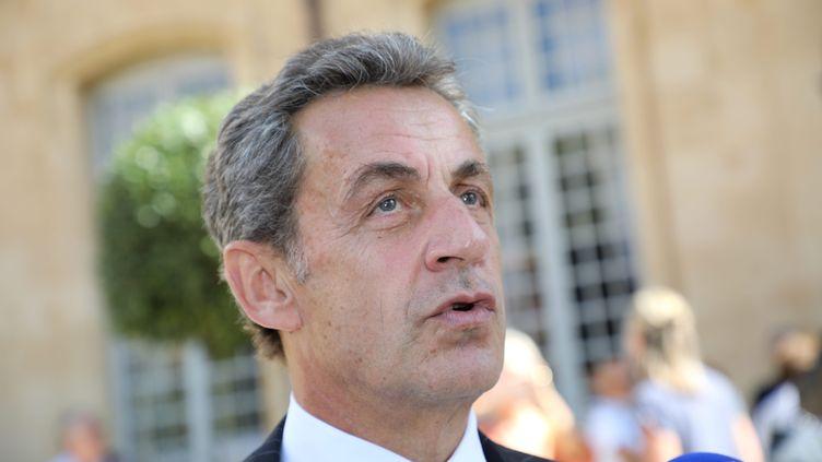 Nicolas Sarkozy devra patienter avant de savoir s'il sera jugé ou non en correctionnelle pour financement illégal de sa campagne en 2012.  (SOLLIER CYRIL / MAXPPP)