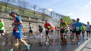 Cioureurs au Marathon de Paris. (CITIZENSIDE/GIUSEPPE AMOS / CITIZENSIDE)