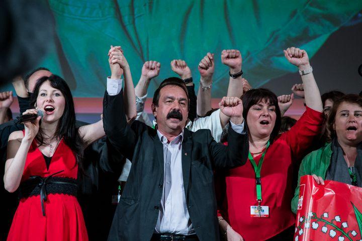 Le secrétaire général de la CGT, Philippe Martinez, lors du 51e congrès de l'organisation syndicale, le 22 avril 2016, à Marseille. (BESSIERE FRANCK / HANS LUCAS / AFP)
