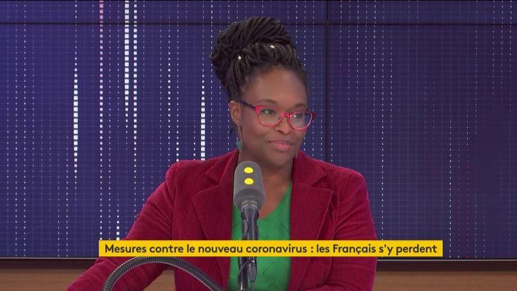 Sibeth Ndiaye, porte-parole du gouvernement, était l'invitée de franceinfo lundi 2 mars 2020. (FRANCEINFO / RADIO FRANCE)
