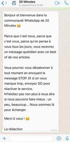 20 Minutes sur WhatsApp (20 Minutes)