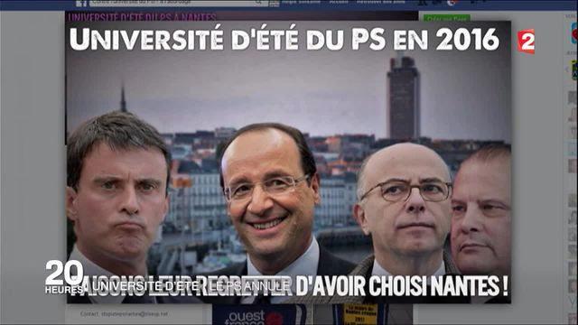 Pas d'université d'été du PS à Nantes