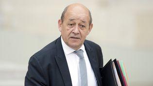 Le ministre de la Défense, le 14 octobre 2015, au palais de l'Elysée, à Paris. (ALAIN JOCARD / AFP)