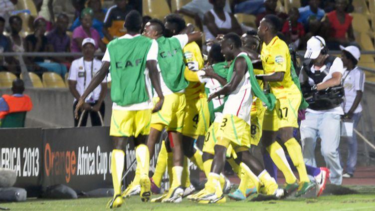 Les Togolais fêtent la qualification (RAPHAEL MBIELE HAPPI / MAXPPP)
