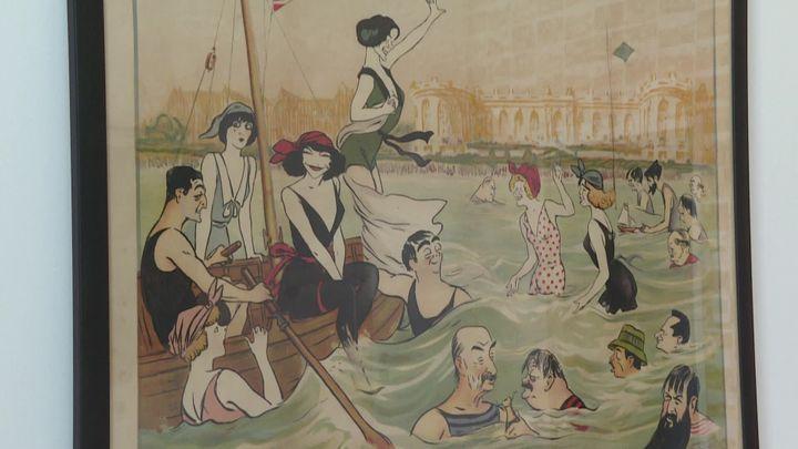 L'affiche dessinée par Sem à l'occasion de l'inauguration du Normandy en 1912. (France 3 Normandie / A. Rombhot)