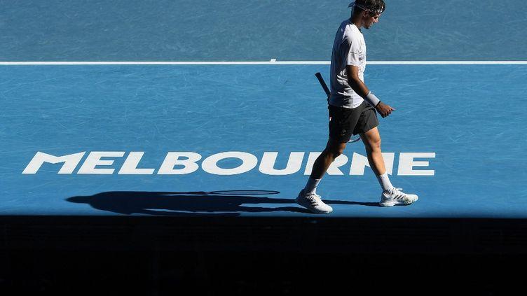 Dominic Thiem, surclassé par Grigor Dimitrov, est éliminé de l'Open d'Australie (WILLIAM WEST / AFP)