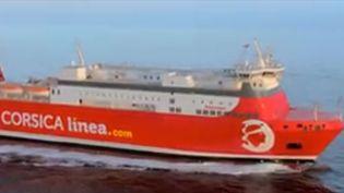Le ferry rouge de Corsica Linea quitte la Bonne Mère de Marseille, direction la Corse. (FRANCE 3)