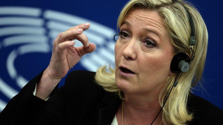 Marine Le Pen au Parlement européen, le 10 juin 2015. (FREDERICK FLORIN / AFP)