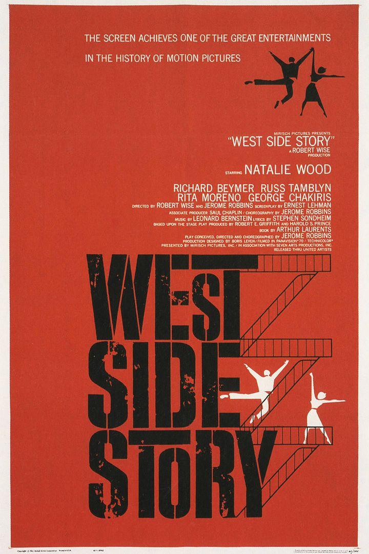 "L'affiche de ""West side story"" de Robert Wise par Saul Bass  (Saul Bass)"