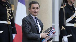 Le ministre de l'Action et des Comptes publics, Gérald Darmanin, à la sortie du Conseil des ministres, le 6 mars 2019 à l'Elysée. (LUDOVIC MARIN / AFP)