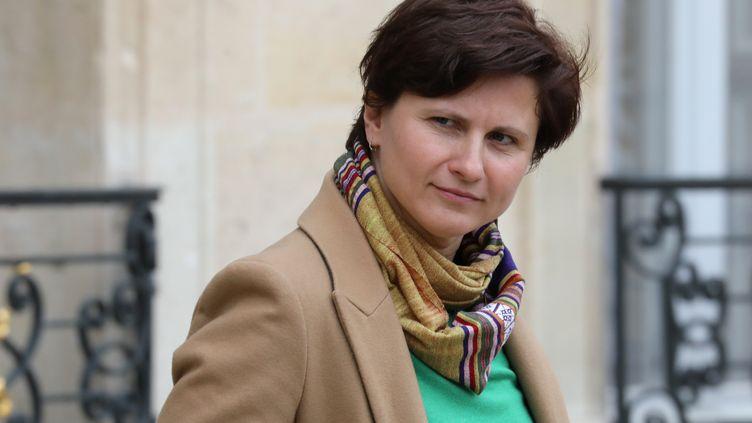 La ministre française des Sports, Roxana Maracineanu, quitte le palais de l'Elysée, le 30 octobre 2018. (LUDOVIC MARIN / AFP)