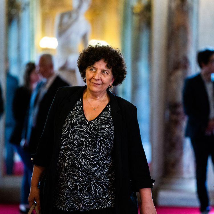 La ministre de l'Enseignement supérieur,Frédérique Vidal, le 8 juillet 2020 au Sénat (Paris). (XOSE BOUZAS / HANS LUCAS / AFP)