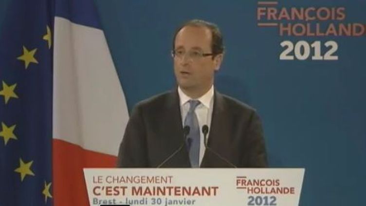 François Hollande à Brest - lundi 30 janvier 2012 (France 2)