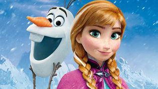 """""""La Reine des neige"""" : affiche (détail)  (The Walt Disney Company France)"""