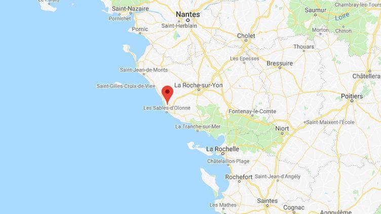 L'agression a eu lieu le 24 août 2019 au Château-d'Olonne (Vendée). (GOOGLE MAPS)