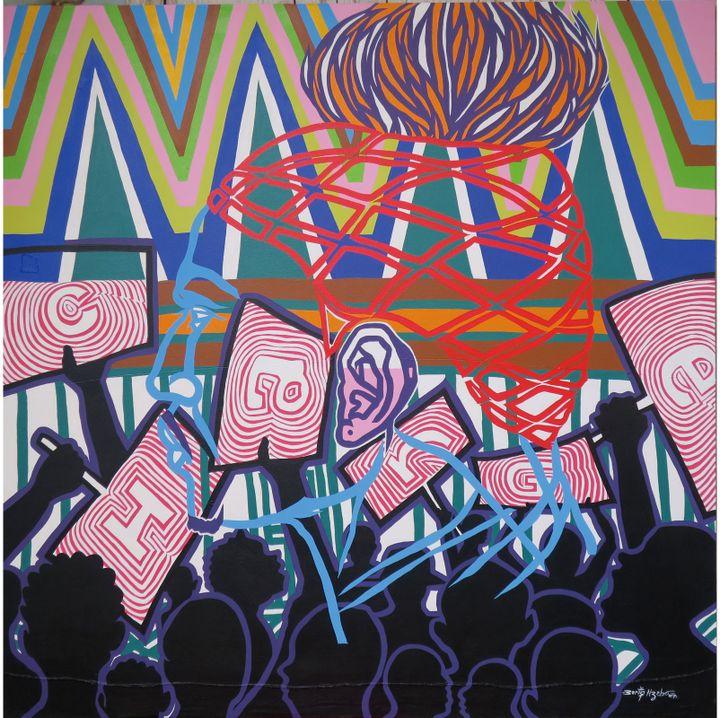 """Boris Nzebo, """"La rage du peuple"""", 2017  (Courtesy Galerie MAM / Fondation Donwahi (Douala/Abidjan))"""