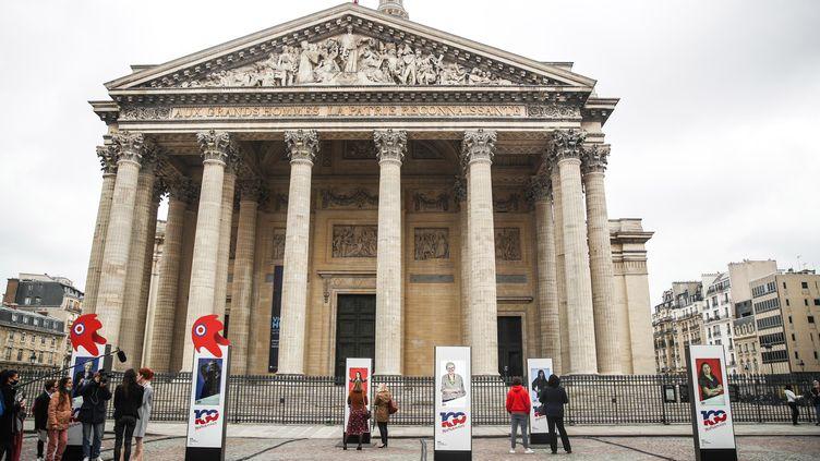 L'exposition des 109 Mariannes se tient au Panthéon, à Paris, jusqu'au15 mars 2021. (MOHAMMED BADRA / EPA)
