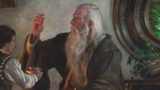 """Donato Giancola illustre """"Le Seigneur des anneaux"""" de J. R. R. Tolkien : Bilbon et Gandalf le Gris  (Donato Giancola / Urban Comics)"""