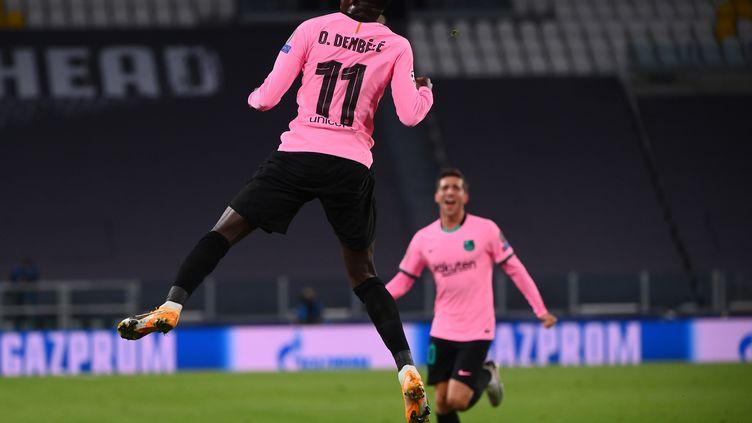 Ousmane Dembélé a marqué son 2e but en deux matches de C1 cette saison (MARCO BERTORELLO / AFP)