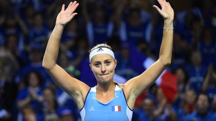 La joie de Kristina Mladenovic (JEAN-FRANCOIS MONIER / AFP)