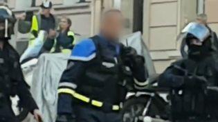 Le commissaire de police mis en cause dans des violences à Toulon (Var), samedi 5 janvier 2018. (CAPTURE D'ECRAN)