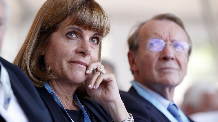 Anne Lauvergeon au congrès d'été du Medef le 29 août 2013 à Jouy-en-Josas (Yvelines). (THOMAS SAMSON / POOL)