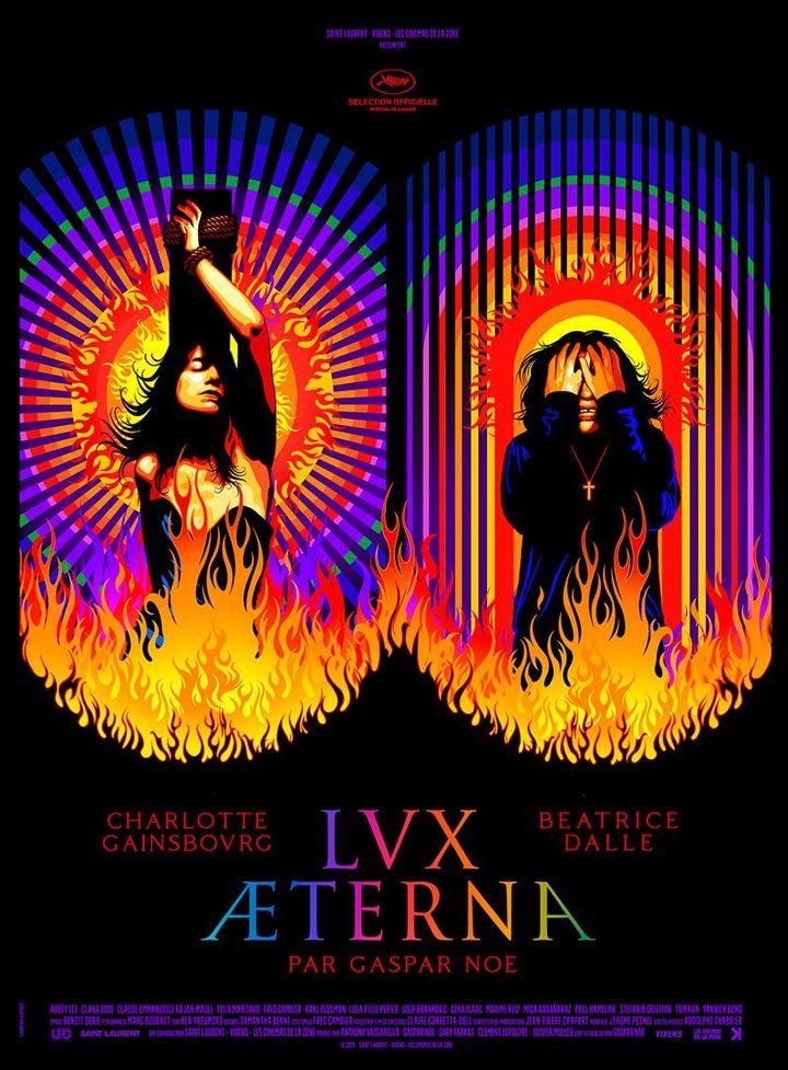 """L'affiche de """"Lux Aeterna"""" de Gaspar Noé. (UFO Distribution / Potemkine Films)"""